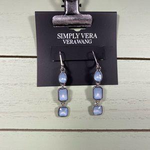 🆕 Simply Vera Wang Blue & Silver Dangle Earrings